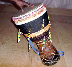 Djembe Goblet-shaped drum, played throughout Africa.